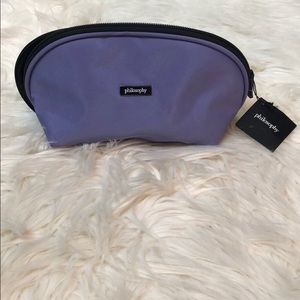 Philosophy Purple Lavender Black Zip Cosmetic Case